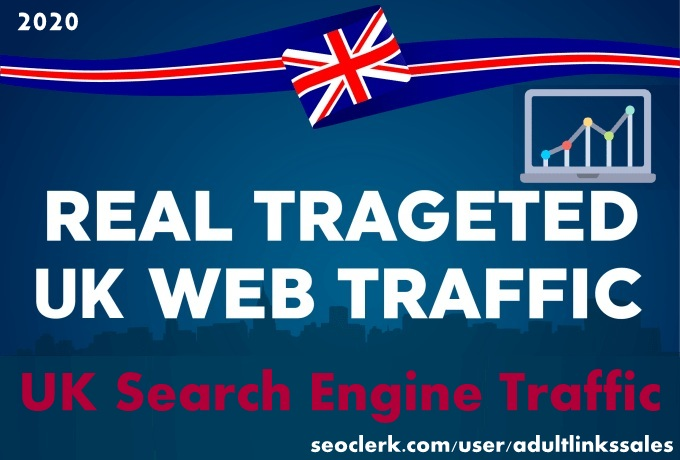 Send 7k-300k UK keyword targeted organic traffic from search engine
