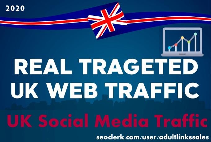 Send 7k-300k UK social media traffic with adsense safe