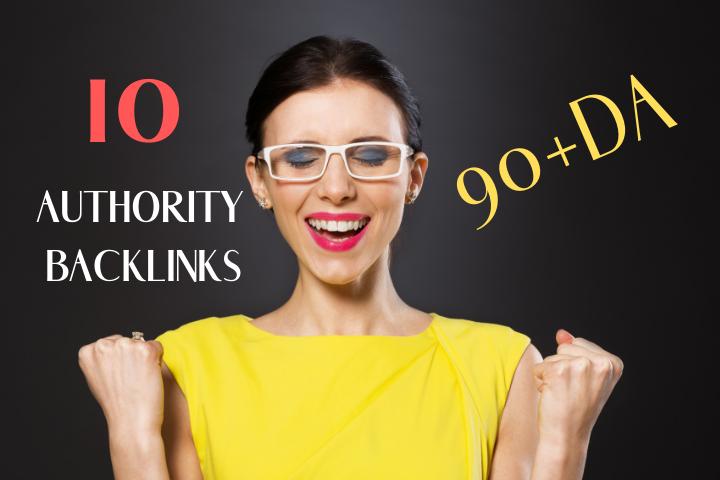 Do 10 Authority Backlinks From 90+DA
