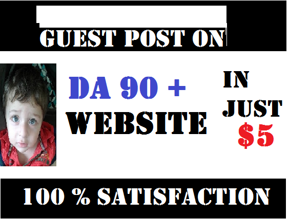 I will publish guestpost on high da 90+ website with link to your website