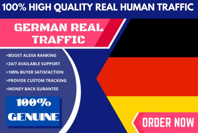 12000 REAL Unique German Website traffic visitors