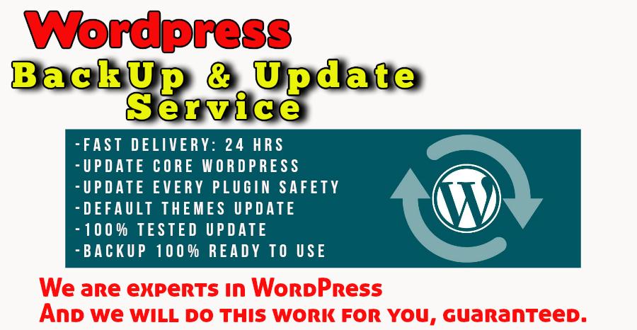WordPress Backups & manually Updates to latest WordPress version
