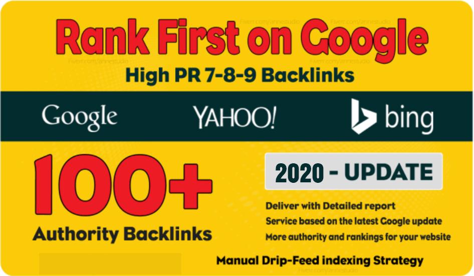 100 Manual Dofollow High PR backlinks with High DA