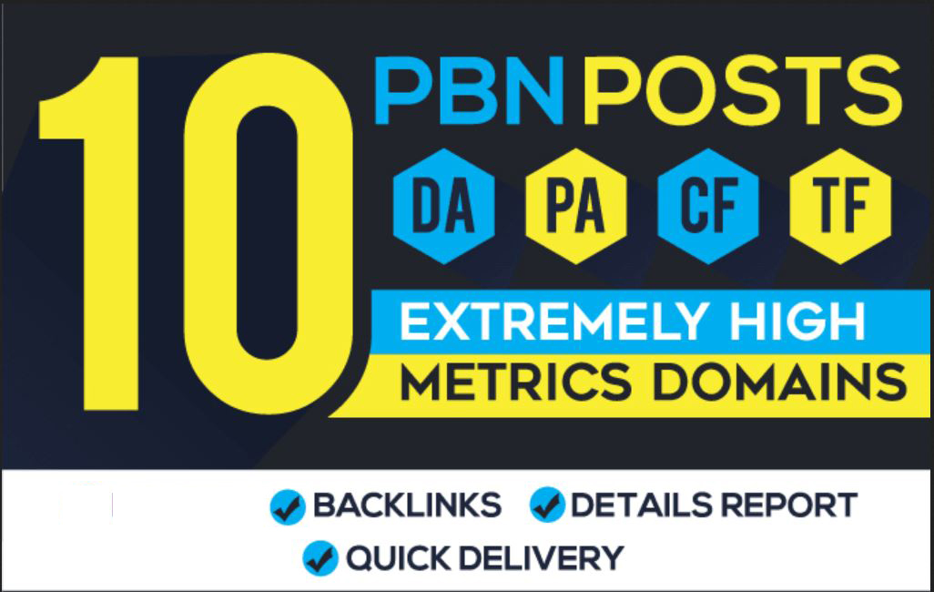 15 Handmade PBN Posts - High Metrics DA Backlinks Unique Content