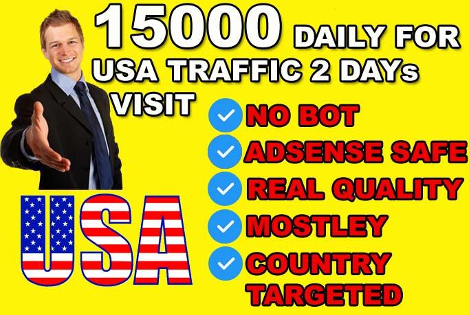 send USA targeted website or blog traffic visitors.