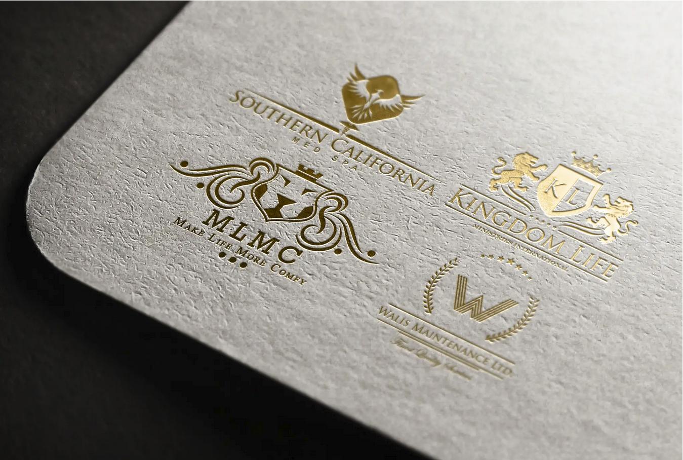 design heraldic brand luxury logo for proffesional