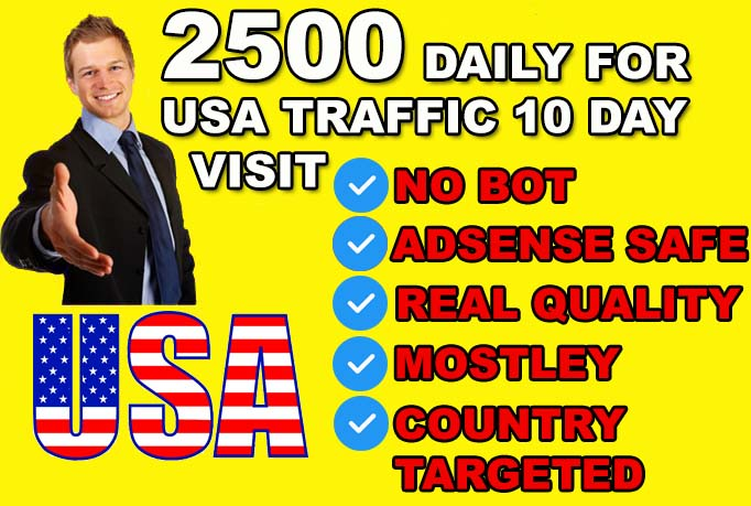 drive 25000 USA genuine real traffic to your website