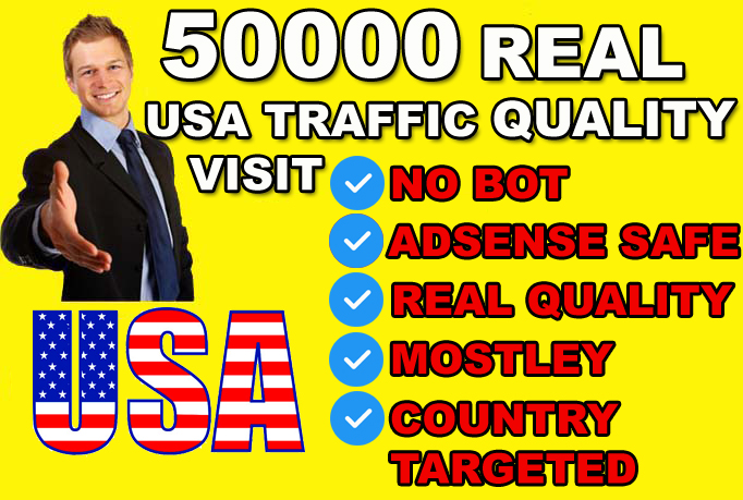 drive 50000 genuine real traffic to your website