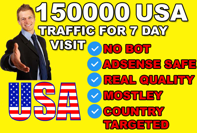 drive usa country target traffic, organic website visitors