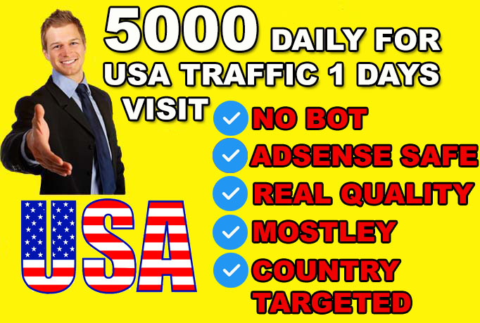 SEND 5000 USA genuine ORGANIC traffic to your website visitors