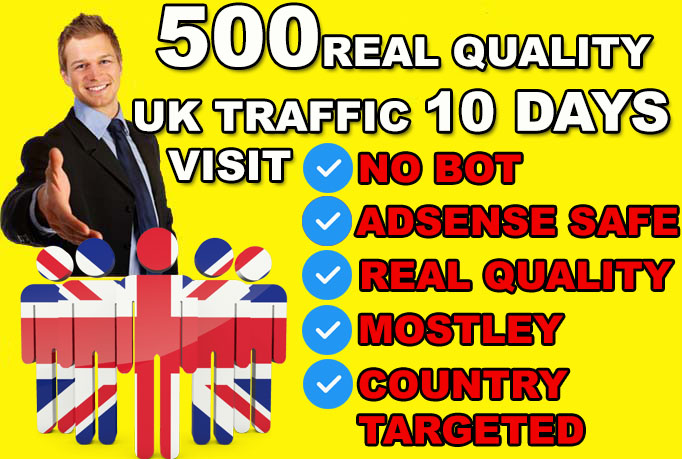 drive ORAGANIC UNITED KINGDOM country target,  website traffic visitors