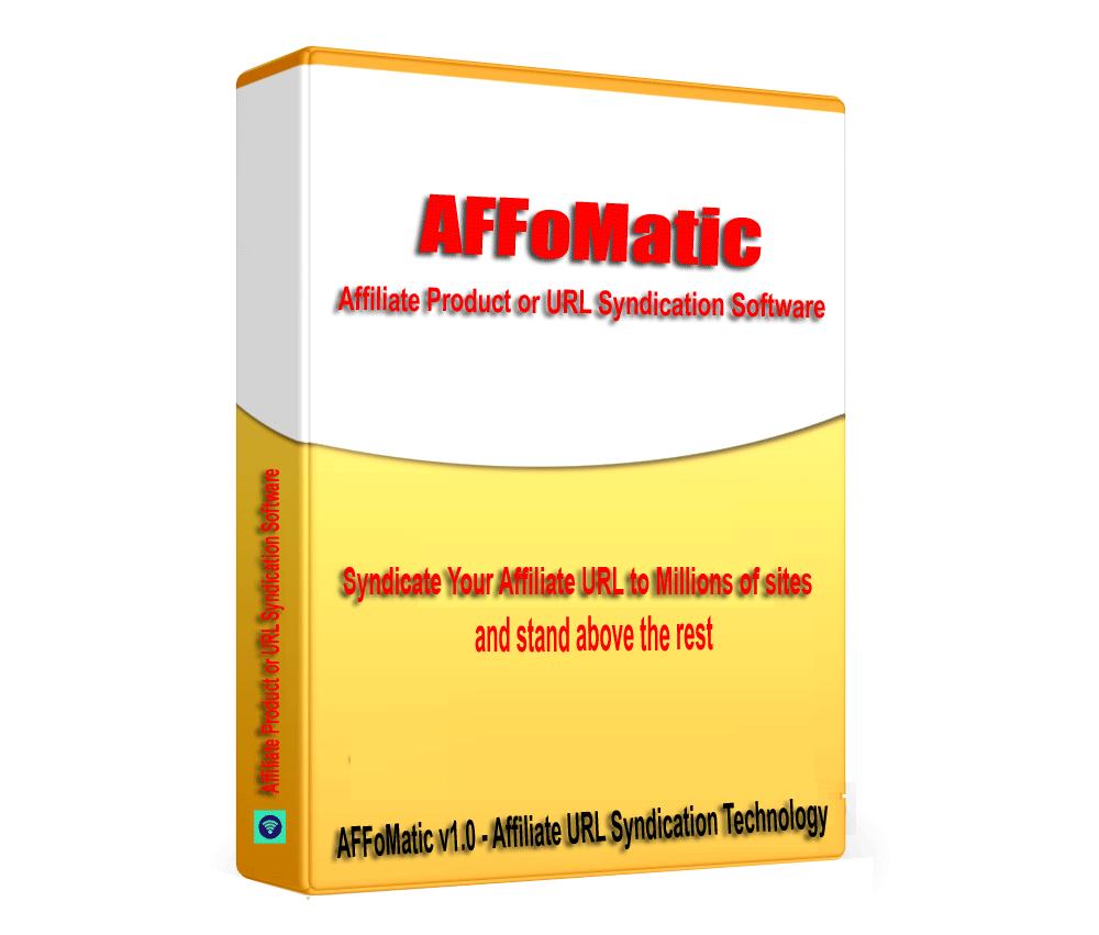 AFFoMatic - Affiliate Product URL SEO and Backlink Builder Software V1.0.1