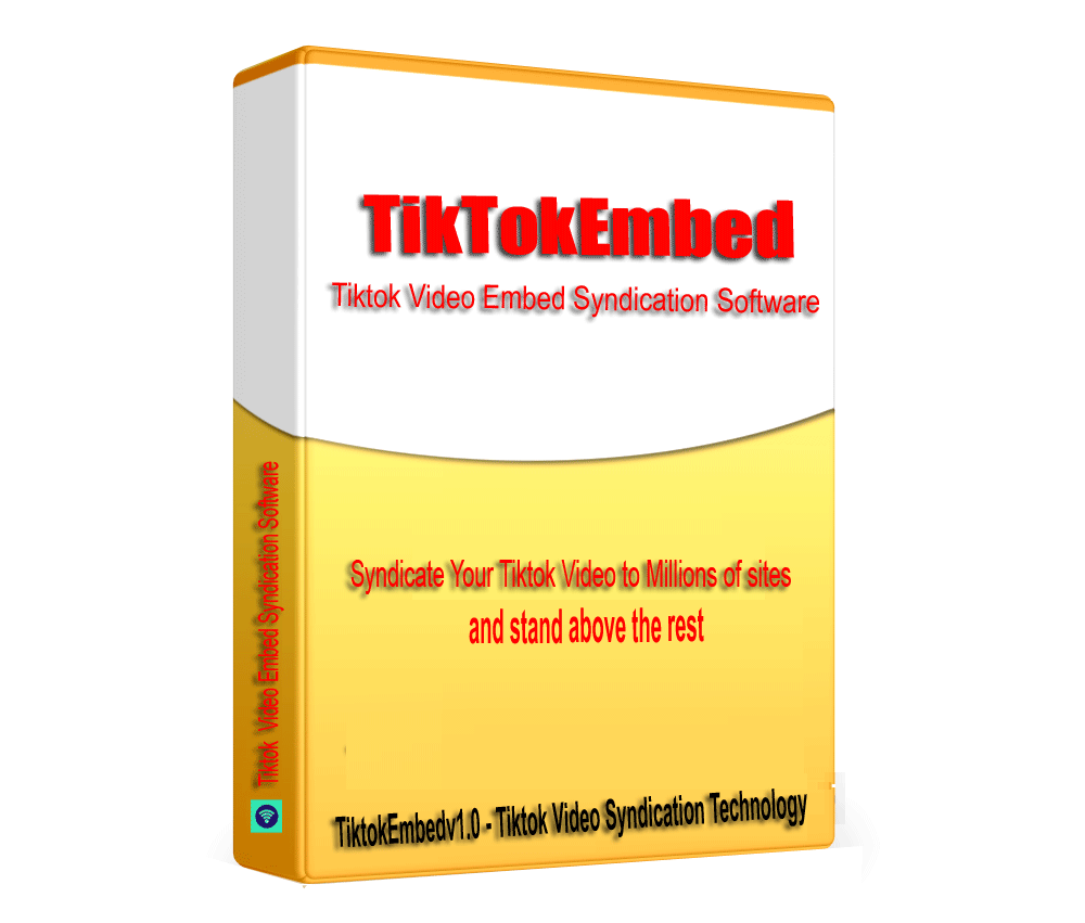 TikTokEmbed - TikTok Video Embed Syndication & SEO Embed generator software V1.0.1