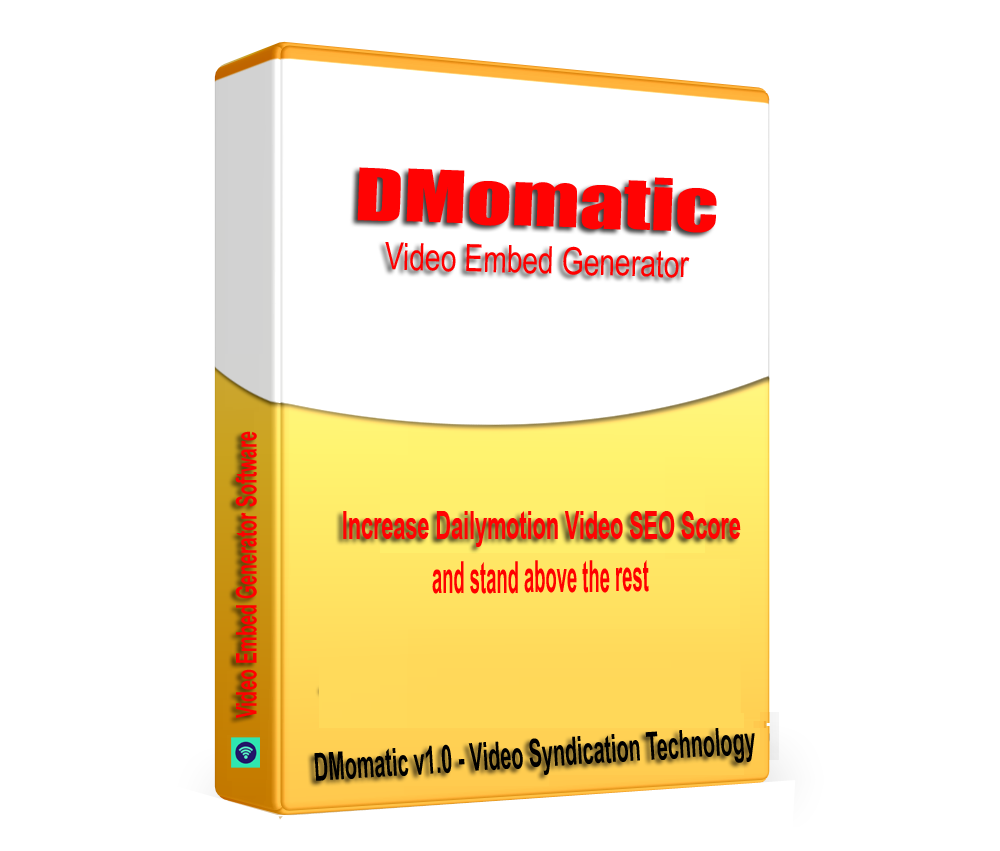 DMomatic - DailyMotion Video SEO Embed generator and backlinks Builder software