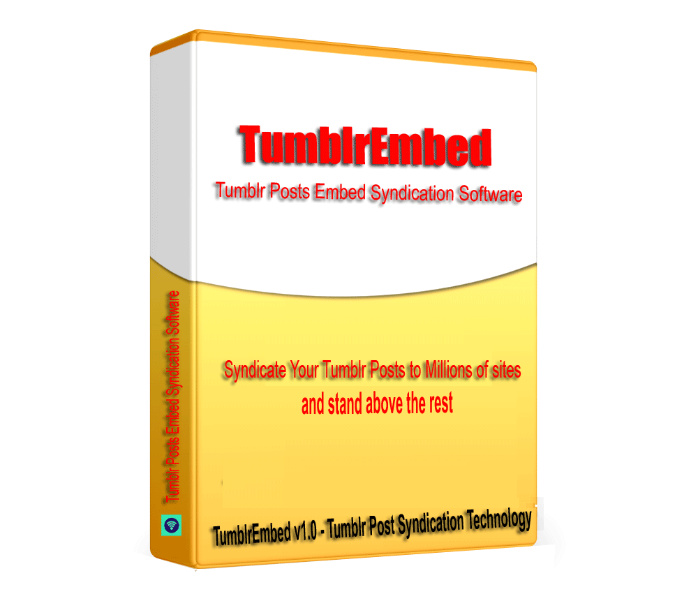TumblrEmbed - Tumblr Posts Embed Syndication Software V1.0.1