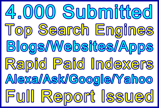 4,000 Top-Tier Search Engines + HQ Directories Submissions