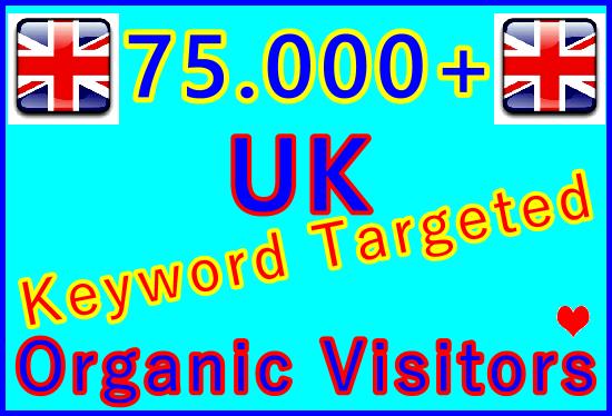 Drive 75,000+ Keywords Targeted Organic UK Traffic over 30 Days