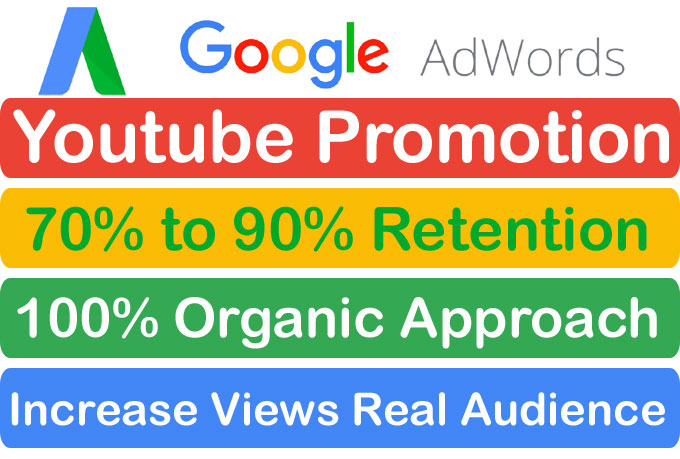 Organic YouTube video Promotion and Marketing Via Google Adwords