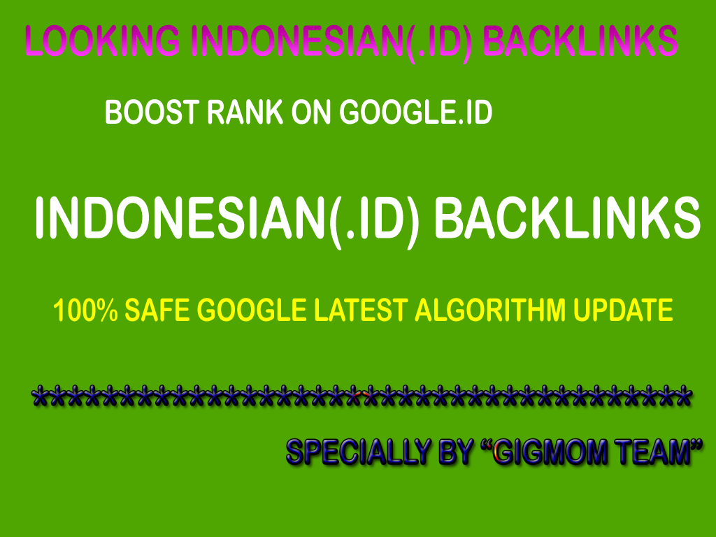 Trusted 15 Authority Indonesian Links DA40+ to Boost Rank on Google. id