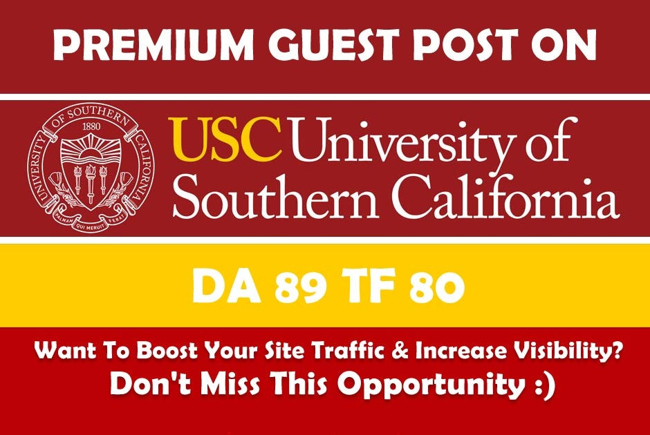 Guest Post On University of Southern California - usc. edu DA91