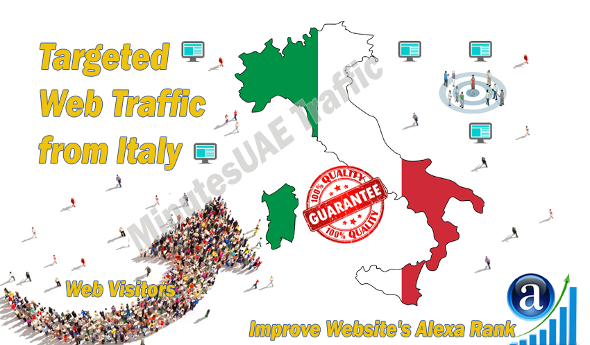 Italian web visitors real targeted Organic web traffic from Italy