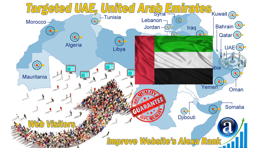 Emirati web visitors real targeted Organic web traffic from UAE,  United Arab Emirates