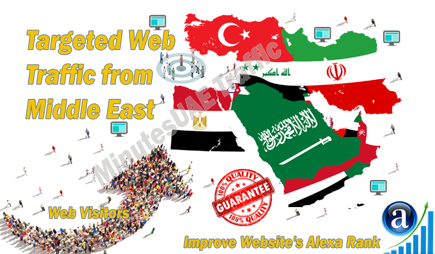 Middle East web visitors real targeted high-quality web traffic from Middle East