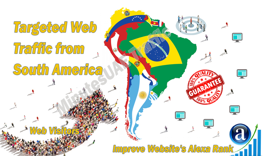 South America web visitors real targeted Organic web traffic from South America