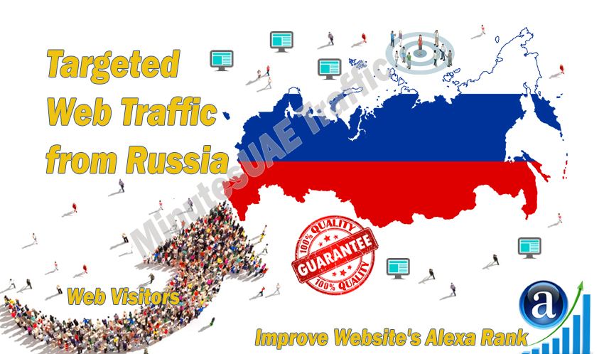 Russian web visitors real targeted Organic web traffic from Russia