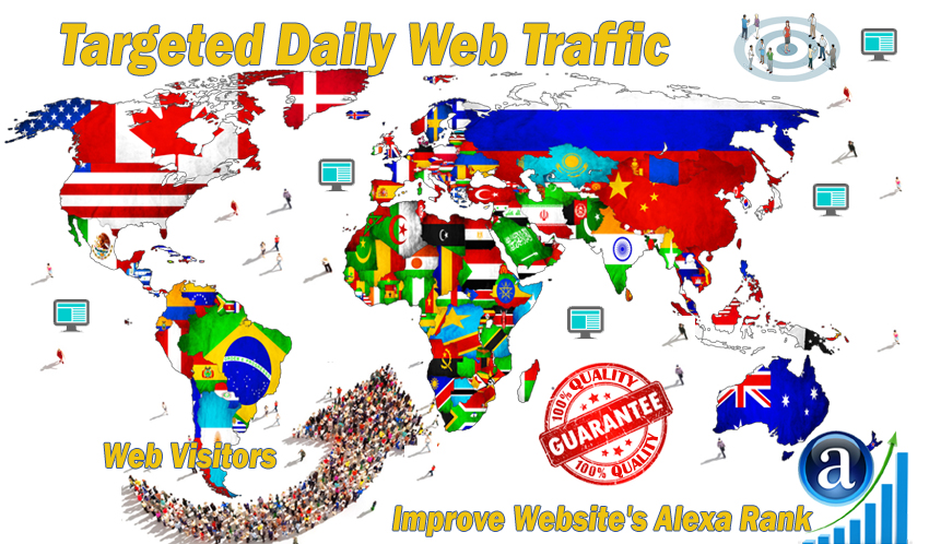 Real web visitors for 30 days with search keyword and...