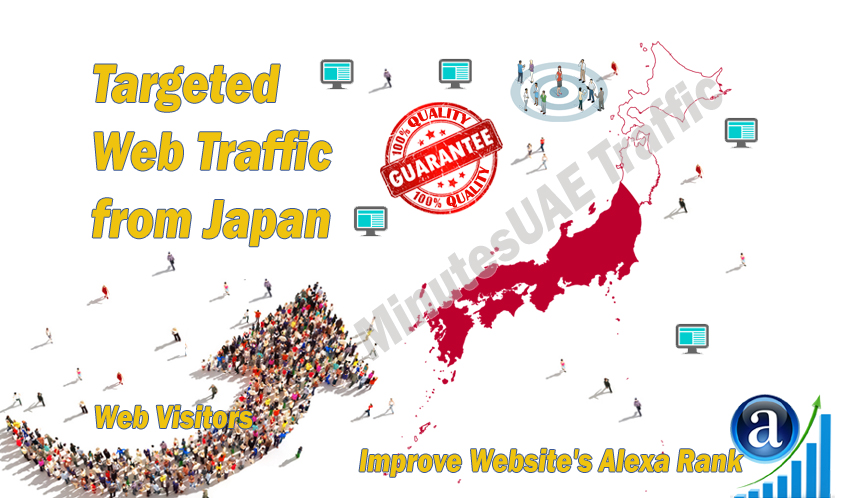 Japanese web visitors real targeted Organic web traffic from Japan