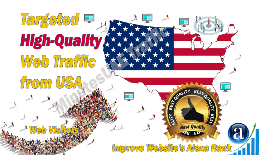 American web visitors real targeted high-quality web traffic from USA,  United States