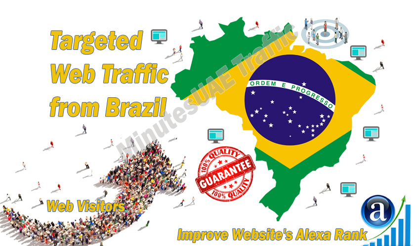 Brazilian web visitors real targeted Organic web traffic from Brazil
