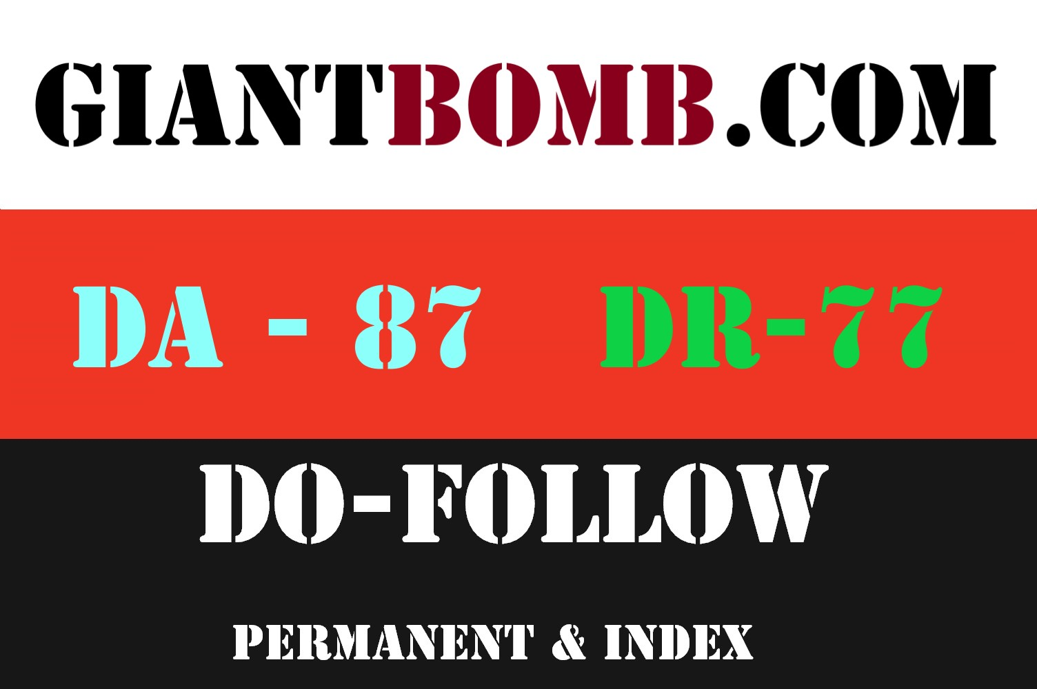 Publish a guest post on Giant bomb - Giantbomb. com - DA87,  DR77