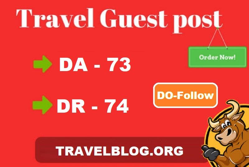Publish guest post on quality travel blog DA-73