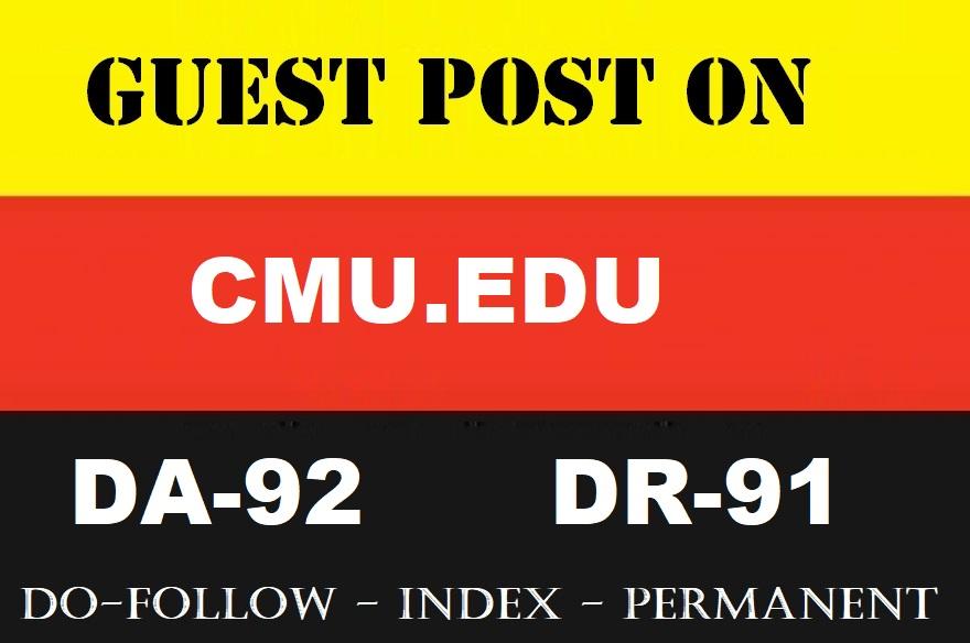 Guest post on CMU EDU- learning. cmu. edu - DA92 DR 91