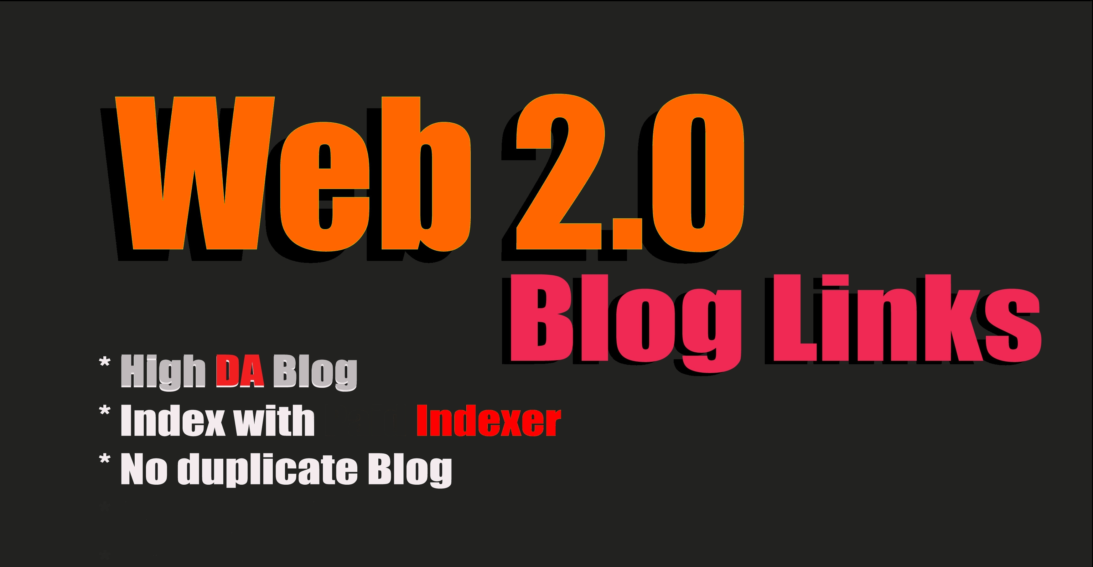 Build 40+ High Quality Web2.0 Blogs high DA+40