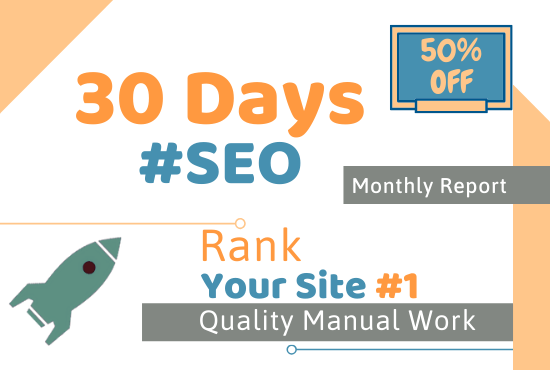 I will do SEO monthly package with white hat link building