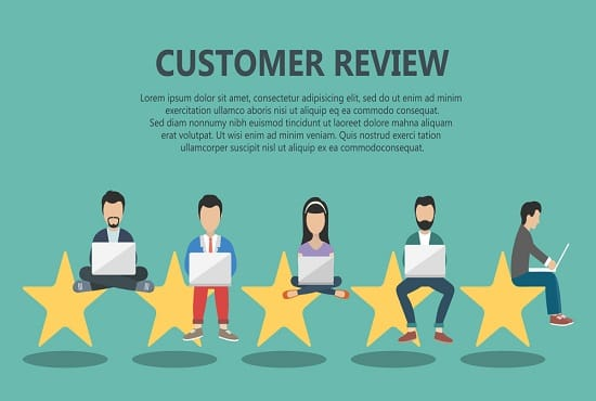 provide 5 star rating for website, product
