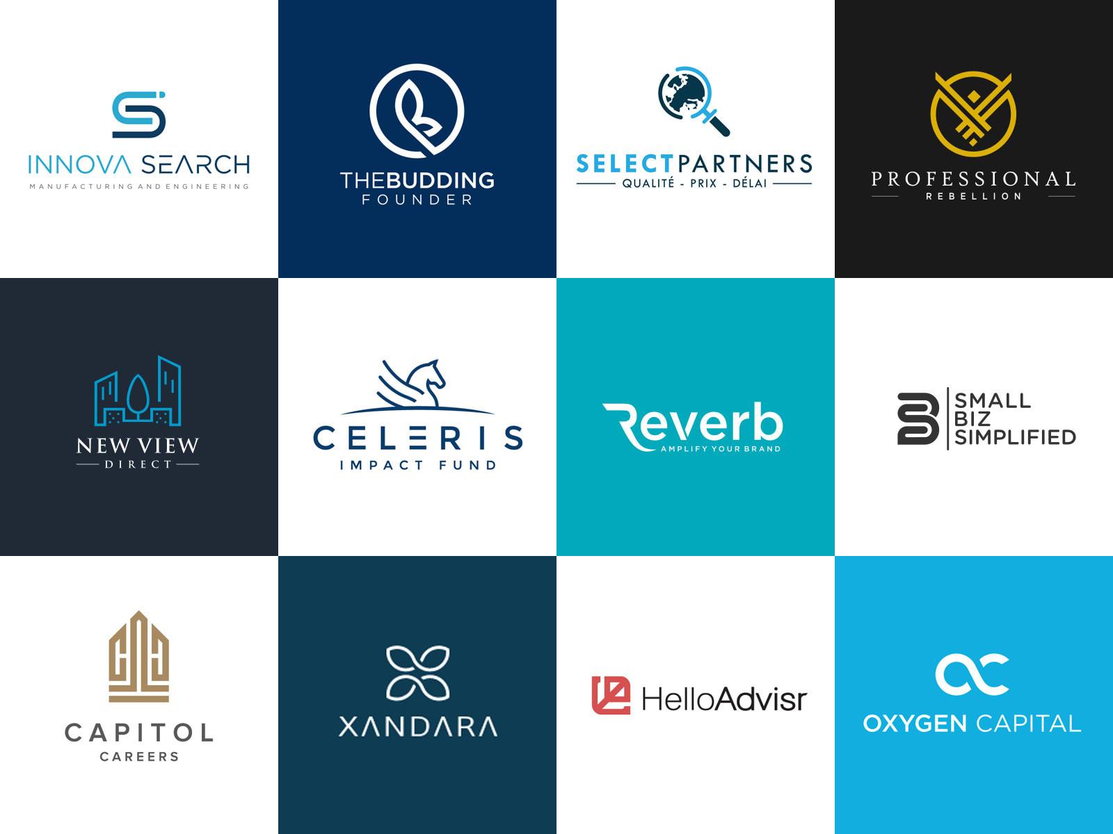 brainstorm unique business name, brand name with logo design