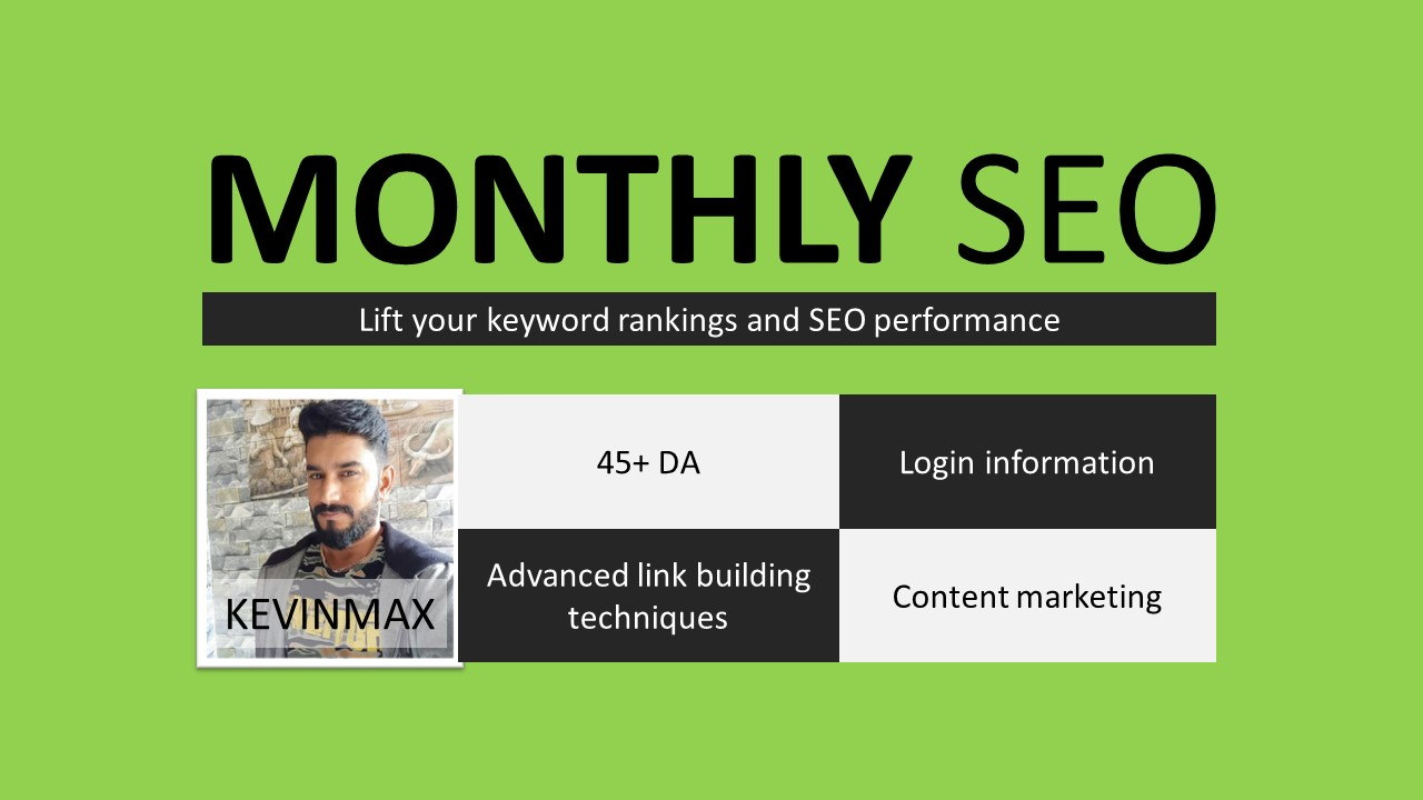Boost your Keyword Rankings Monthly SEO Services