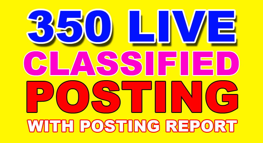 350 classified ads with live link report any country