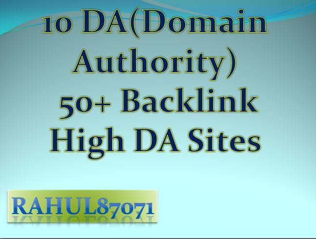 I will Provide 10 DA50+ Mix contextual and profiles backlinks