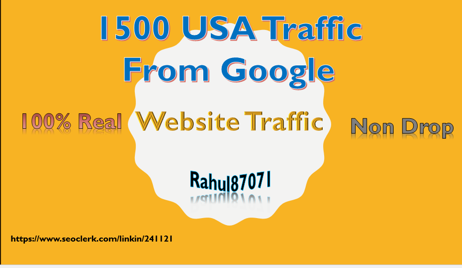1500 Real USA web traffic from google to your web or blog site