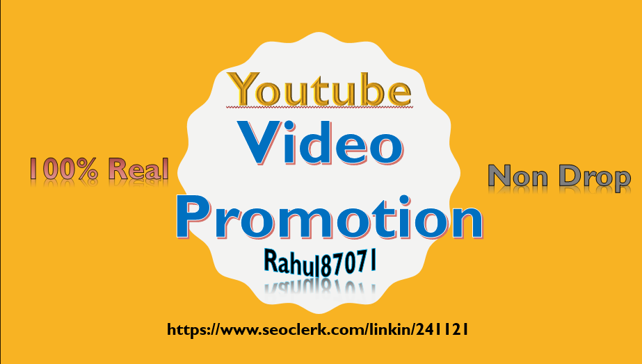 Non Drop youtube Video Promotion and Social Media Marketing