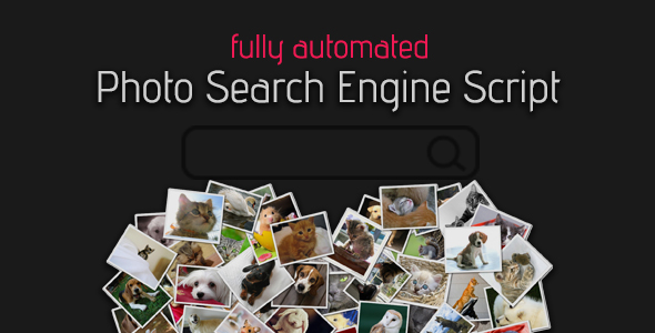 Fully Automated Photo Search Engine Script