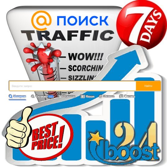 Daily keyword targeted visitors from Go. Mail. ru for 7 days