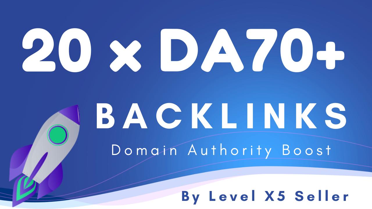 20 High Authority Backlinks DA70 - DA95 For Fast Ranking