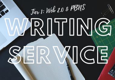 Bulk Writing Articles For Tier1 PBN & WEB 2.0