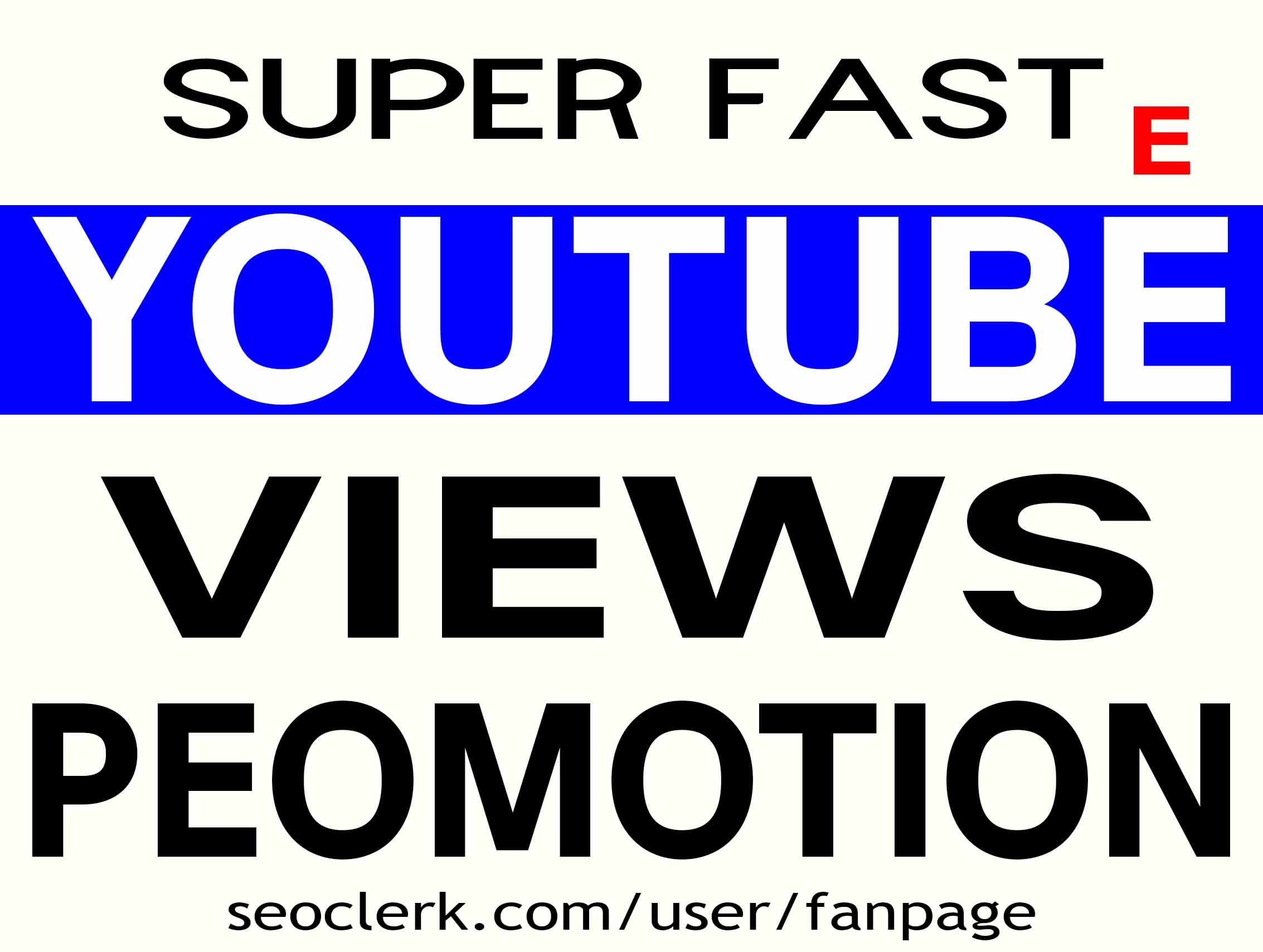 YOUTUBE VIDEO PROMOTION SAFE STABLE AND LIFETIME GUARANTEE